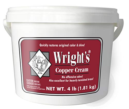 Wright's Copper and Brass Cream Cleaner - 4 Lbs - Gently Cleans and Removes Tarnish Without Scratching