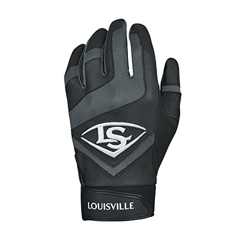 Louisville Slugger Genuine Adult Batting Gloves - Large, Black