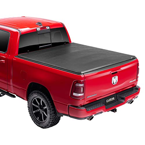 Gator ETX Soft Tri-Fold Truck Bed Tonneau Cover | 59422 | Fits 2019 - 2021 Dodge Ram 'New Body Style' w/out multifunction tailgate 6' 4' Bed (76.3') | Made in the USA