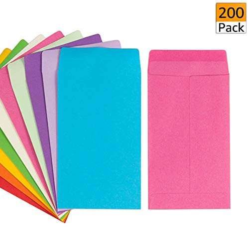 200 Pack Self-Adhesive Small Parts Packets Envelopes Kraft Self Sealing Seed Envelopes Coin Stamps Storage for Home, Garden, Wedding or Office (2.25'3.5')