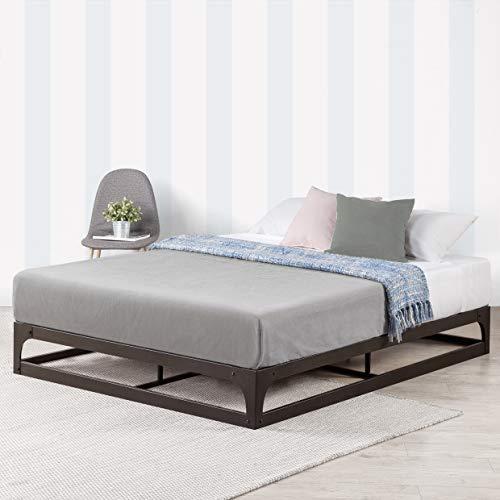 Mellow 9 Inch Metal Platform Bed Frame w/Heavy Duty Steel Slat Mattress Foundation, Full, Black