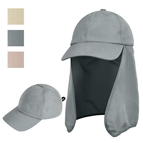 Sun Hats for Men with Ear Neck Flap Cover UPF 50+ UV Protection Baseball Cap for Safari, Hiking, Fishing, Outdoor Adventures