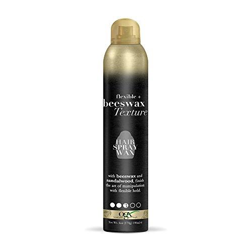 OGX Flexible + Beeswax Texture Hair Spray Wax, 6 Oz (64041)