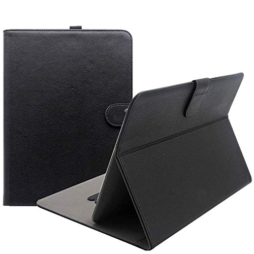 ProCase Universal Folio Case for 9-10 inch Tablet, Leather Stand Protective Case Cover for 9' 10.1' Touchscreen Tablet with Multi-Angle Stand (Black)