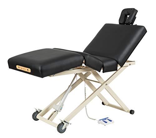 Sierra Comfort Adjustable 4-Section Electric Lift Massage Table, black