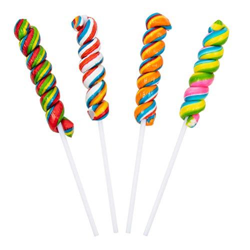 Rainbow Twisty Pops - 16 Pieces - Lollipop Party Favors