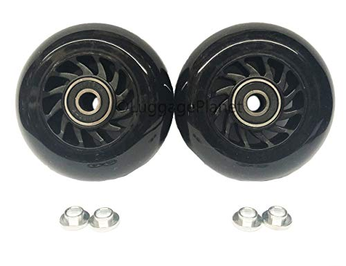 Ln Luggage Replacement Wheel 75mm with spacers (Set of 2 Wheels)