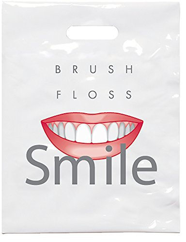 Practicon 1109631 Brush Floss C Patient Care Bags, 9' x 12' (Pack of 100)