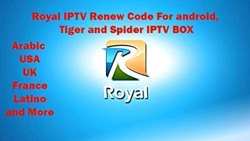 Royal IPTV code subscription 12 months Arabic USA Latino and International send by Messages for FTA تجديد اشتراك رويال قنوات عربية و عالمية