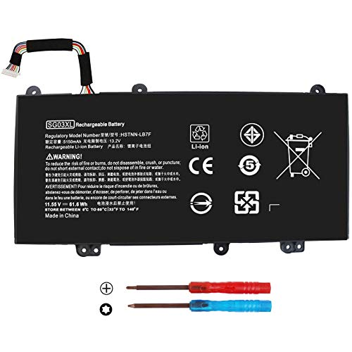 BE·SELL New 11.55V 61.6WH SG03XL SG03061XL Battery for HP Envy M7-U M7-U109DX M7-U009DX 17-U011NR 17t-U000 Series 849315-850 849049-421 849314-856 HSTNN-LB7F HSTNN-LB7E W2K88UA TPN-I126