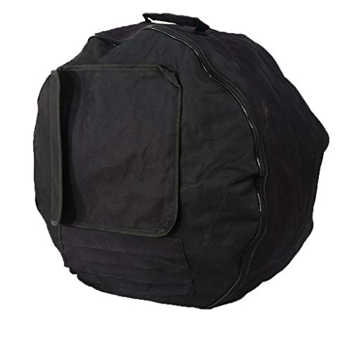 Padded Drum Bag Case Cover Protector For 22 24 25 Inch Bass Drum - Black, 22inch