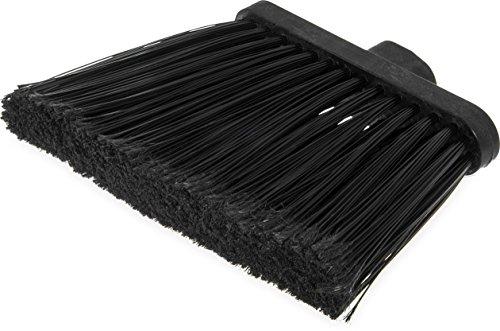 Carlisle 3686703 Duo-Sweep Medium Duty Flagged Angle Broom Head, Polypropylene Bristle, 8' Overall Length x 12' Width, Black (Case of 12)