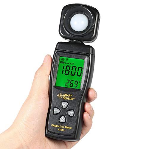 PinShang Digital Meter Luminometer Photometer Luxmeter Light Meter 0-200000 Lux Black