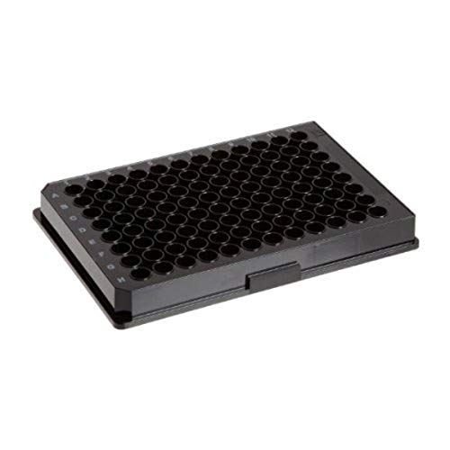 Corning 3603 96-Well Microplates, Tissue Culture-Treated with Lid, Sterile, Black with Clear Bottom (Pack of 48)