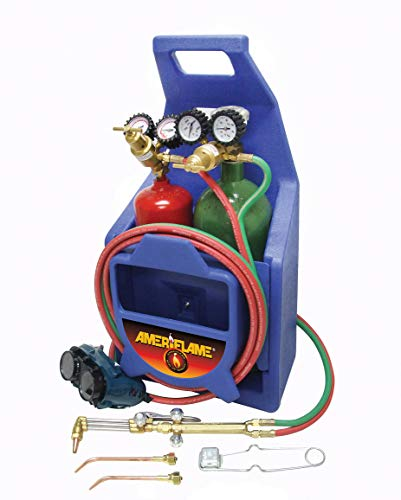 Ameriflame TI100A Medium Duty Portable Welding/Cutting/Brazing Outfit with Plastic Carrying Stand (Tanks Not Included)
