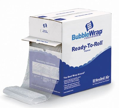 12' x 175' Sealed Air Bubble Wrap Brand Multi-Purpose Grade Cushioning in a Ready-to-Roll Dispenser Carton (3/16') (1 Roll) - AB-532-53-02