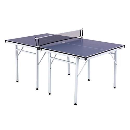 STIGA Space Saver Compact Table Tennis Table for Authentic Play at Regulation Height with a Scaled Down Size for Easy Storage