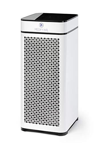 Medify MA-40W V2.0 Medical Grade Filtration H13 True HEPA for 840 Sq. Ft. Air Purifier, 99.9% | Modern Design - White