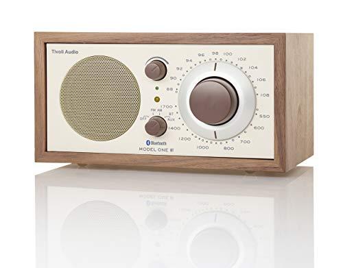 Tivoli Audio Model One Bluetooth AM/FM Radio in Walnut/Beige