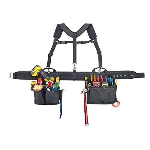 CLC Custom Leathercraft 1608 Electrician's Comfort Lift Combo Tool Belt, 28 Pocket