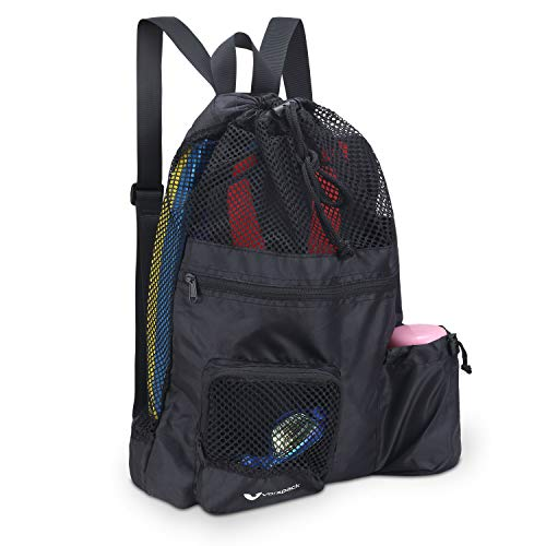 Vorspack Mesh Swim Bag Beach Backpack Swimming Equipment Bag Quick Dry Lightweight Ventilation for Swim Beach Gym
