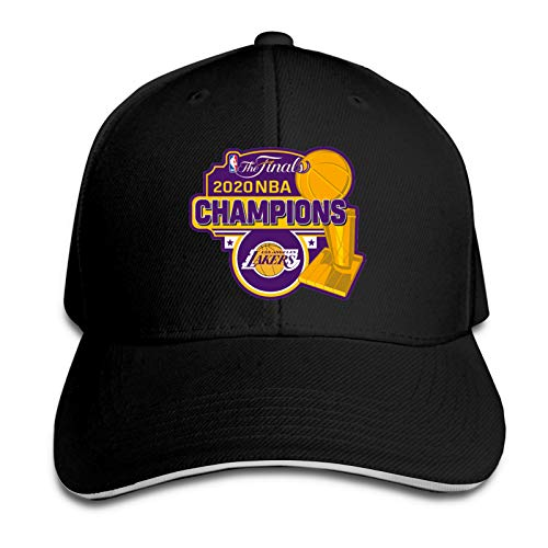 Men's and Women's Lakers Championship 2020 Daily Custom-Made Peaked caps.Sandwich Cap Outdoor Sports/Travel Black