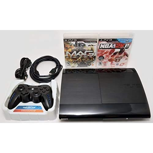 Sony Playstation 3 Super Slim 250GB Game Console System Bundle PS3 w/2 Games MAG NBA 2K11
