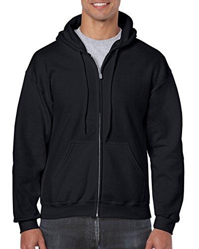 Gildan Men's Fleece Zip Hooded Sweatshirt Black Medium