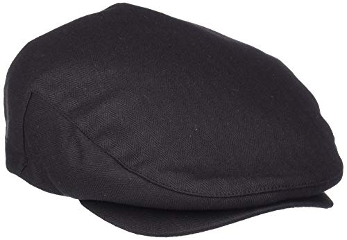 Brixton Men's Hooligan Driver Snap Hat, Black herringbone, X-Large