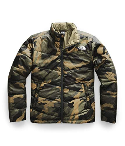 The North Face Men's Junction Insulated Jacket, Burnt Olive Green Waxed Camo Print, S