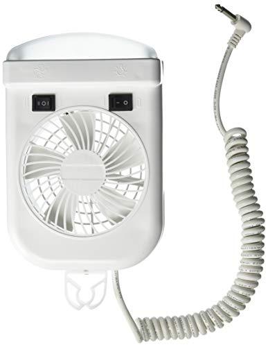 Lumitronics RV 12V Interior Reading Light - 2-Speed Fan, Extendable Cord, On/Off Switch