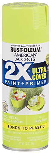 Rust-Oleum 327871 American Accents Spray Paint, 12 oz, Gloss Key Lime
