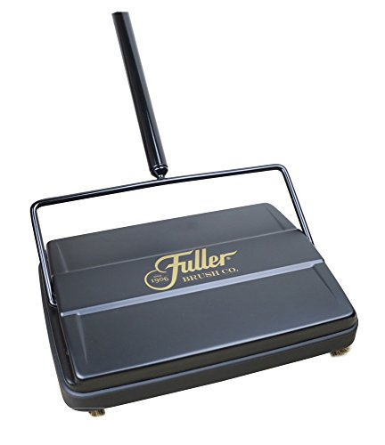 Fuller Brush 17027 Electrostatic Carpet & Floor Sweeper - 9' Cleaning Path - Black