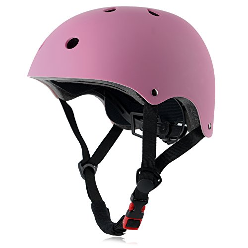OUWOER Kids Bike Helmet, CPSC Certified, Adjustable and Multi-Sport, from Toddler to Youth, 3 Sizes (Pink)