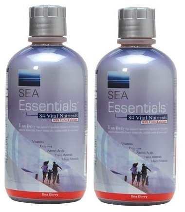 Sea Essentials Vital Nutrients with Coral Calcium, Sea Berry, 32 Ounces (2 Pack)
