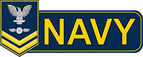 Magnet US Navy 2nd Class Aviation Electronics Mate (AE) Gold Military Veteran Served Vinyl Magnet Car Fridge Locker Metal Decal 3.8'