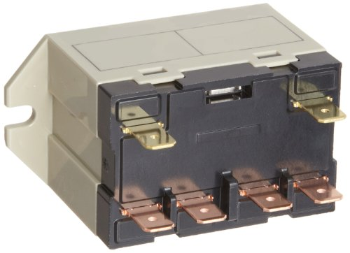 Omron G7L-2A-TUB-CB-AC24 General Purpose Relay, Class B Insulation, QuickConnect Terminal, Upper Bracket Mounting, Double Pole Single Throw Normally Open Contacts, 71 mA Rated Load Current, 24 VAC Rated Load Voltage