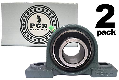 PGN - UCP208-24 Pillow Block Mounted Ball Bearing 1-1/2' Bore Self Aligning Cast (2 PCS)