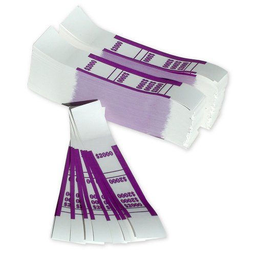 The Coin-Tainer Co. $2000 Currency Band, Violet, 1000 Count (402000)