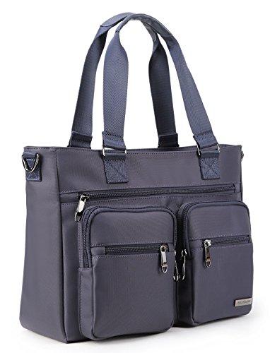 Crest Design Water Repellent Nylon Shoulder Bag Handbag Tablet Laptop Tote as Travel Work and School Bag. Functional Clinical Bag to Carry Medical, Nursing Supplies (Navy)