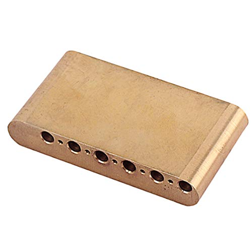 ARTIBETTER 1pcs 74mm Brass Tremolo Block Guitar Bridge Part for Strat Electric Guitar Block Sustain Bridge (Golden)