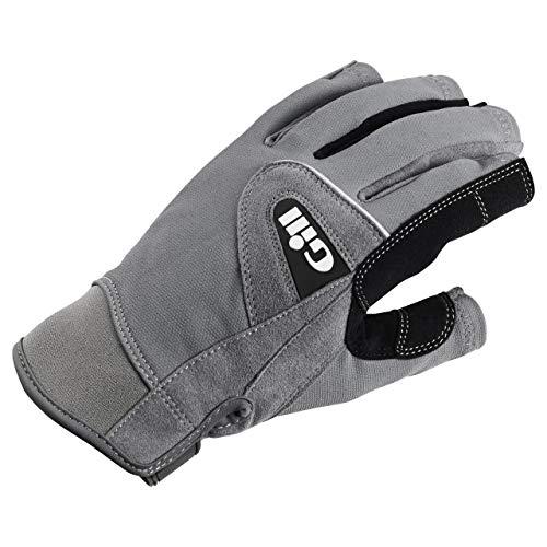 Gill Short Finger Deckhand Sailing Gloves, Gray, Large