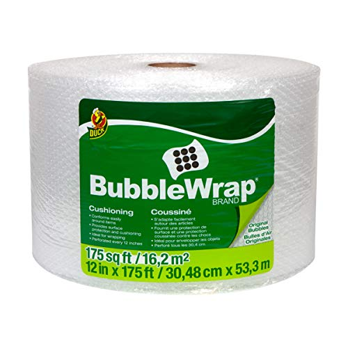 Duck Brand Bubble Wrap Roll, Original Bubble Cushioning, 12' x 175', Perforated Every 12' (286891)