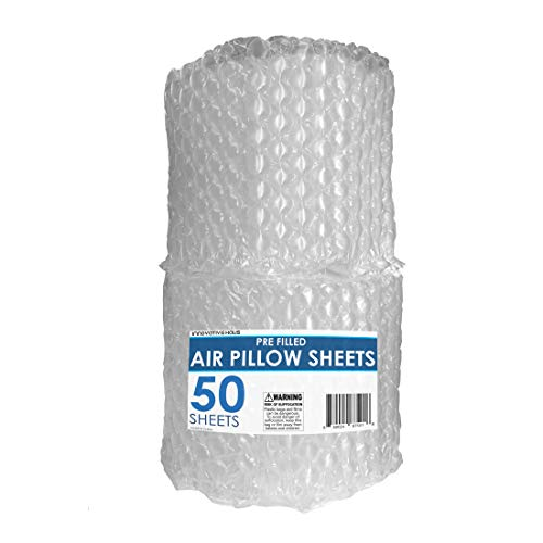 Innovative Haus 50 Count 10 x 12 Inches Air Pillow Sheets for Filling Void in Package. Cushioning Stuffer for Shipping and Packaging. Great Packing Supplies Alternative to Peanuts, Foam, and Paper.