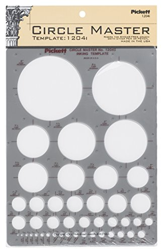 Pickett CHA1204I Circle Master Template, Range From 1/16 To 3 Inches in Diameter (1204I)