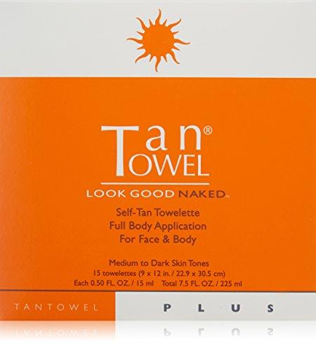 Tan Towel Full Body Plus Creme, 15 Count