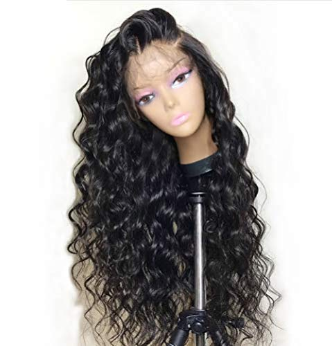 HD Transparent Lace Wig Loose Wave Human Hair Wigs Pre Plucked Wave Lace Front Human Hair Wigs with Baby Hair for Black Women 130% Density 14 inch