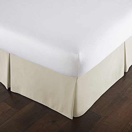 Southshore Fine Linens - VILANO Springs - 15 inch Drop Pleated Bed Skirt, Off White, Queen