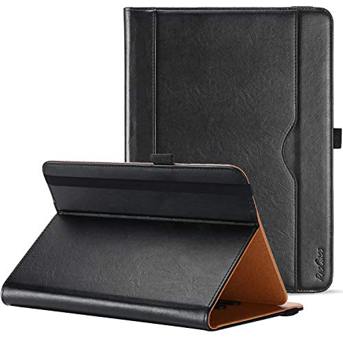 ProCase Universal Case for 9-10 inch Tablet, Stand Folio Universal Tablet Case Protective Cover for 9' 10.1' Touchscreen Tablet, with Adjustable Fixing Band and Multiple Viewing Angles – Black