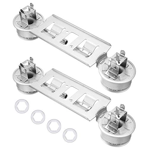 2 Packs WB16K10026 Double Burner Assembly Compatible with General Electric Hotpoint Ranges Replaces 868697 AP2633210 PS232404
